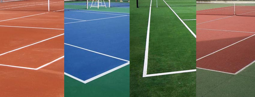 los tipos de pistas de tenis tierra cemento hierba
